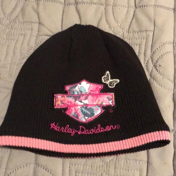 Kids Pink Cap Harley-Davidson Toddler Girl Fleece Winter Hat 2-4T